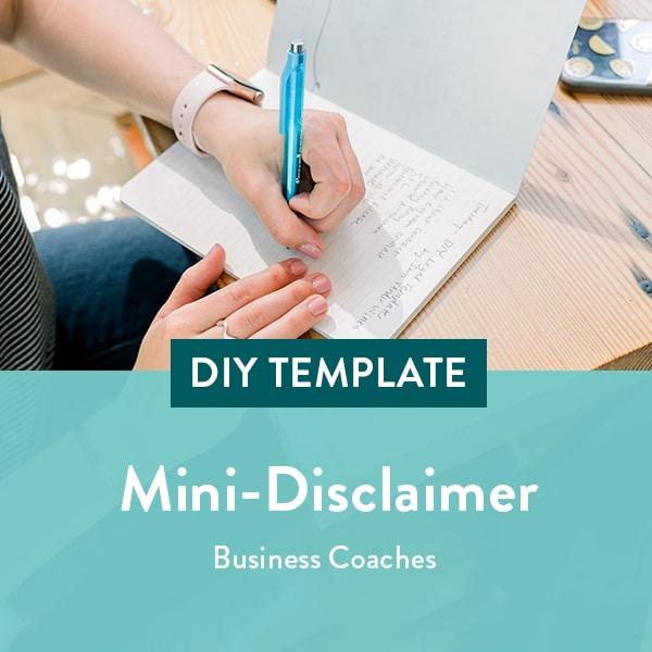 Business-Coach-Mini-Disclaimer-Template