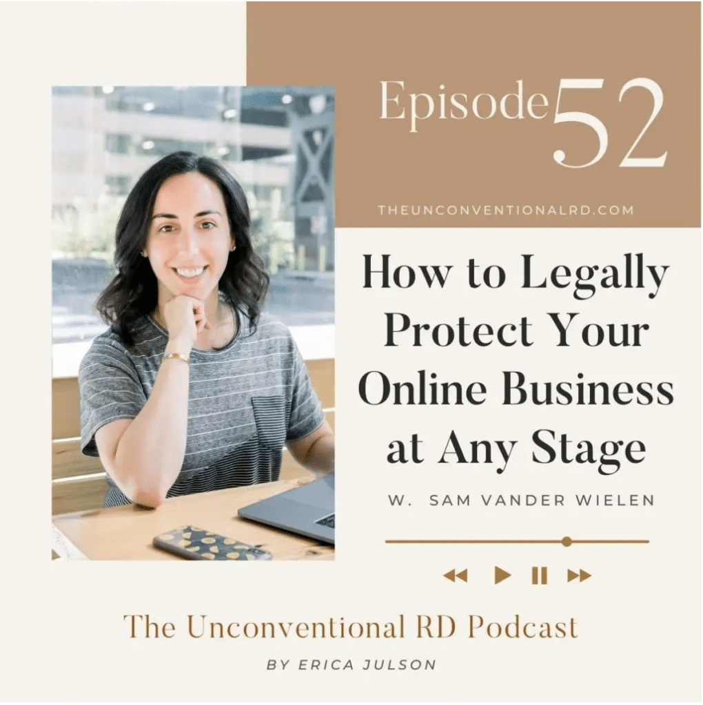 #052: HOW TO LEGALLY PROTECT YOUR ONLINE BUSINESS AT ANY STAGE